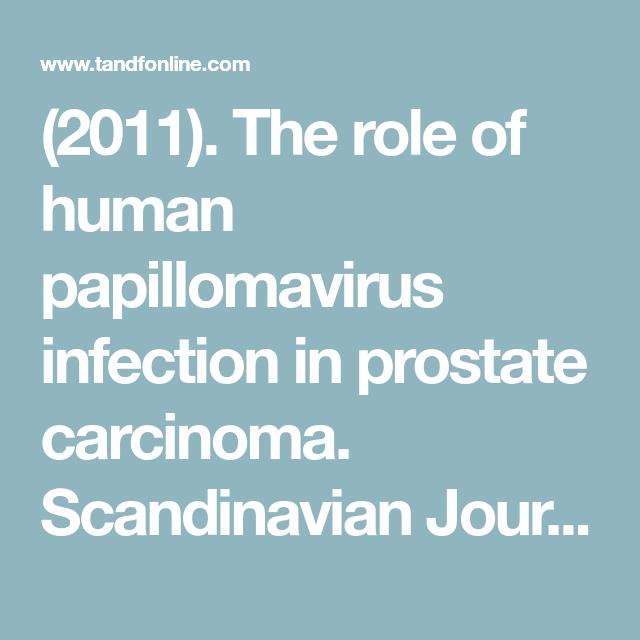 papillomavirus and prostate cancer