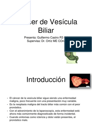 cancer vesicula biliar ppt