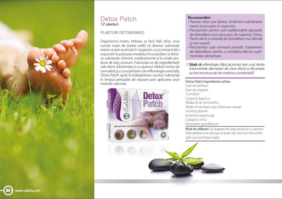 Plasturi detoxifiere Detox Patch   Calivita