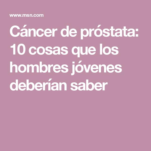 cancer de prostata hombres jovenes laryngeal papilloma histopathology