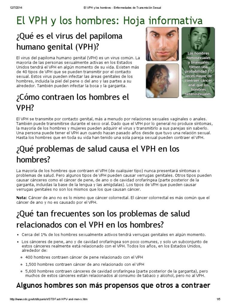 virus papiloma humano cdc