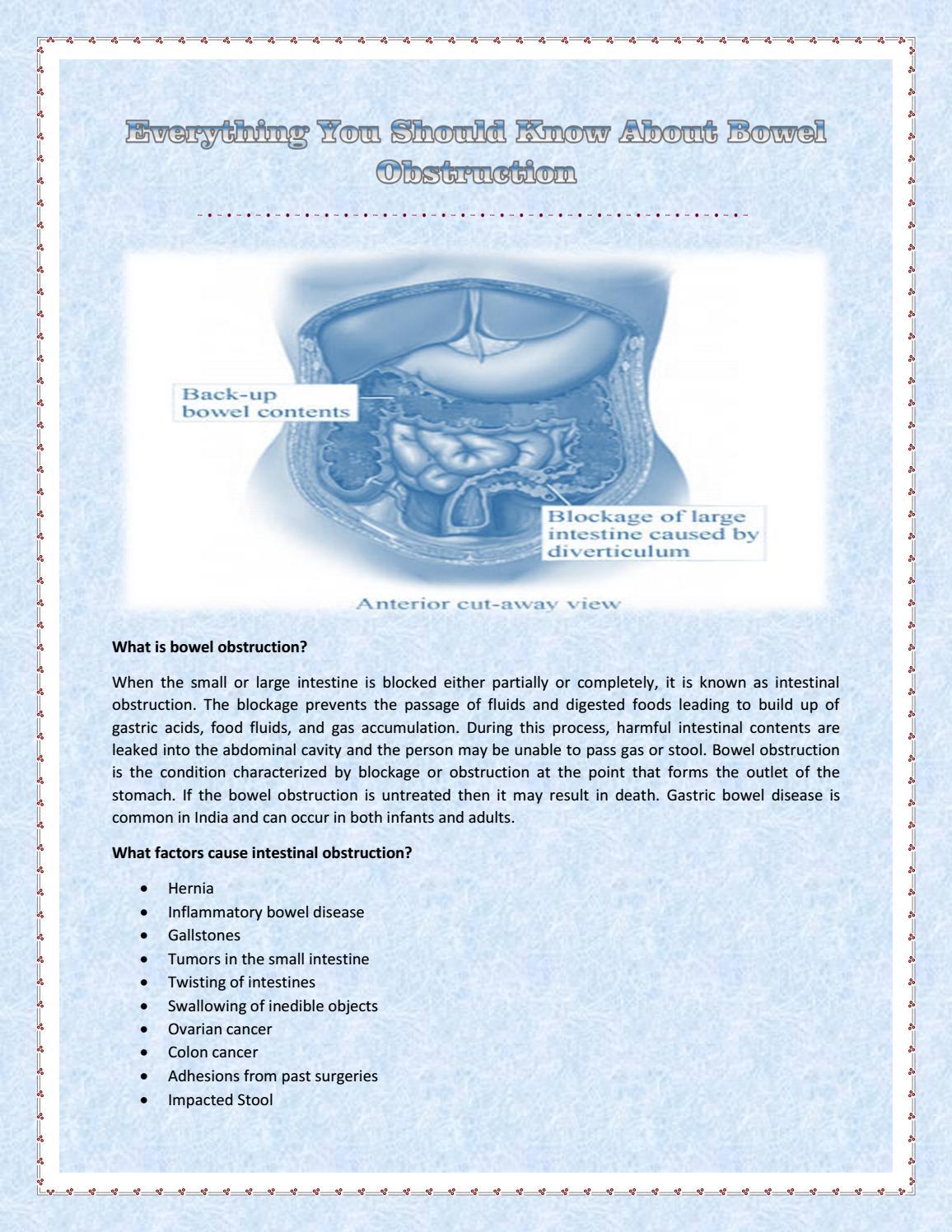 ovarian cancer intestinal blockage