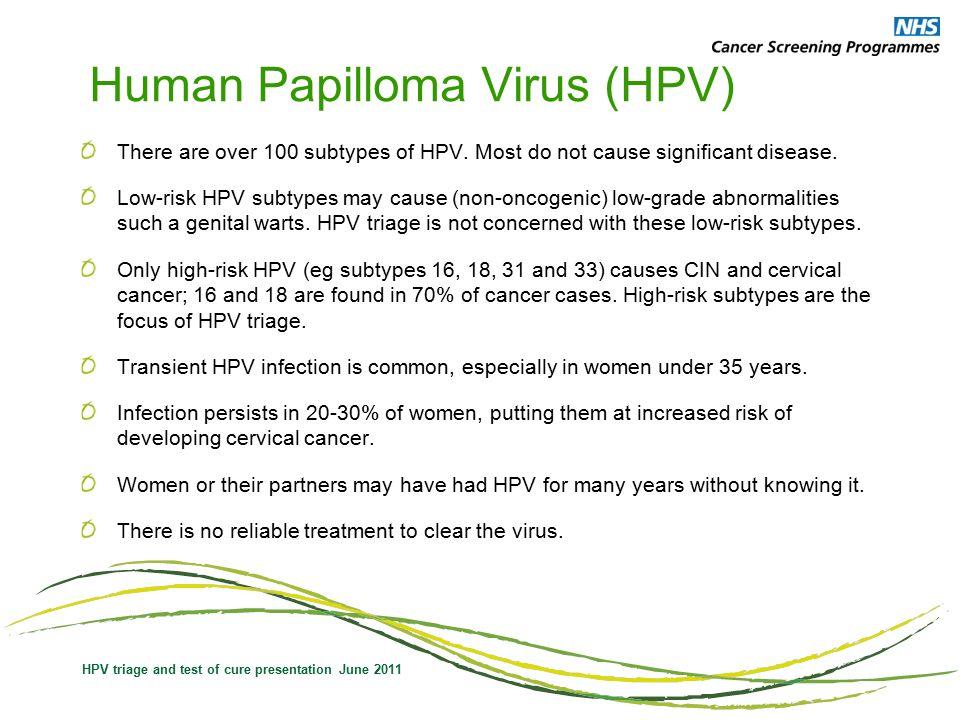 human papillomavirus test nhs