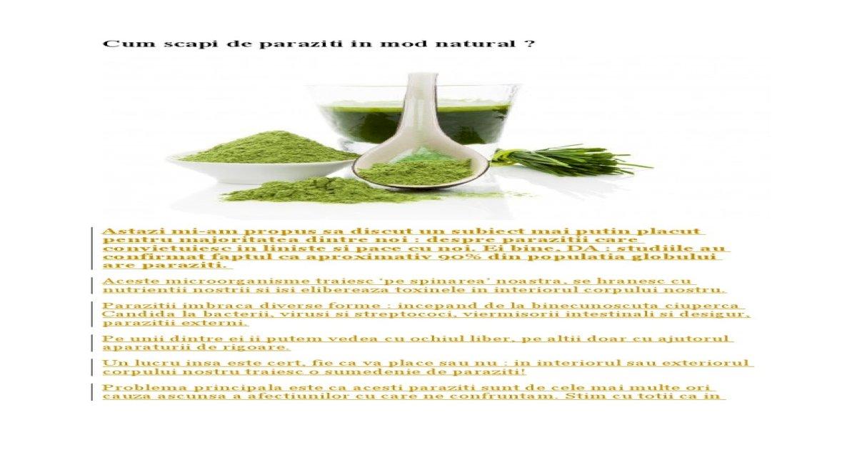 Trucul natural care te ajută să elimini paraziții intestinali și să îți cureți organismul