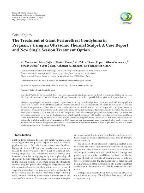 condyloma acuminata treatment guideline