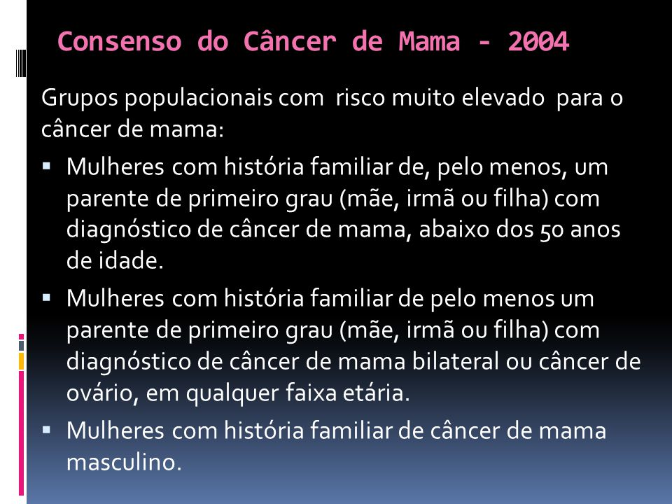 cancer mamar bilateral
