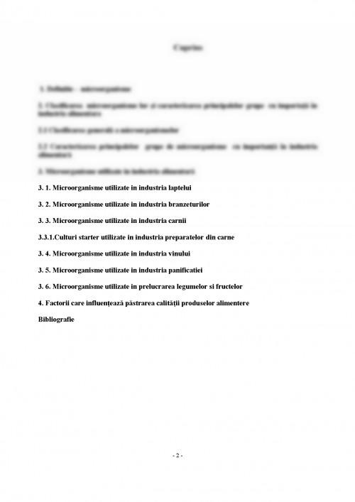Referat: Bacterii Utilizate in Industria Alimentara (#) - Graduo
