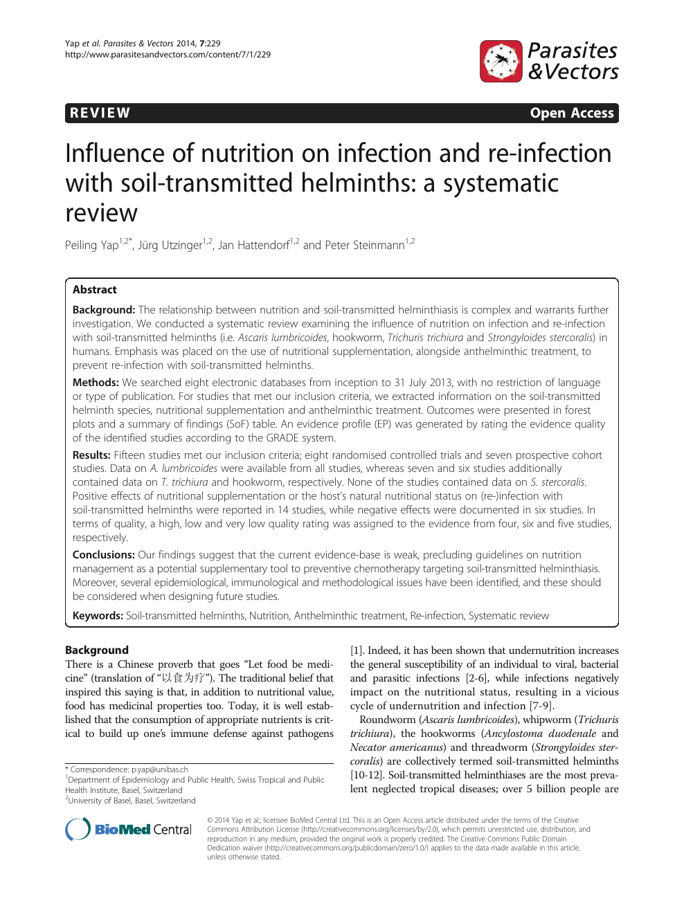 o helminth infection