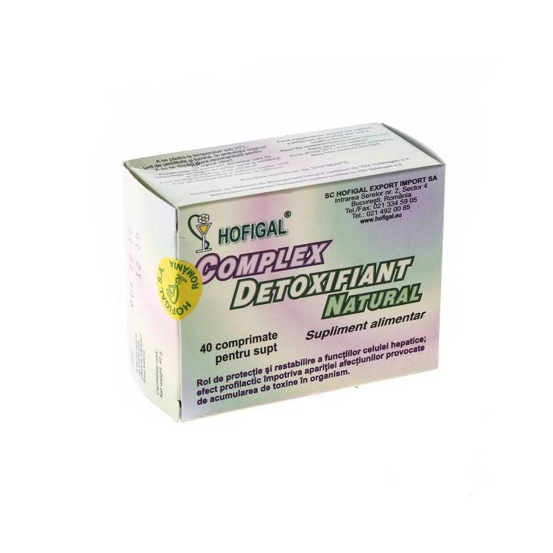 Complex Detoxifiant Natural 40cps - Hofigal