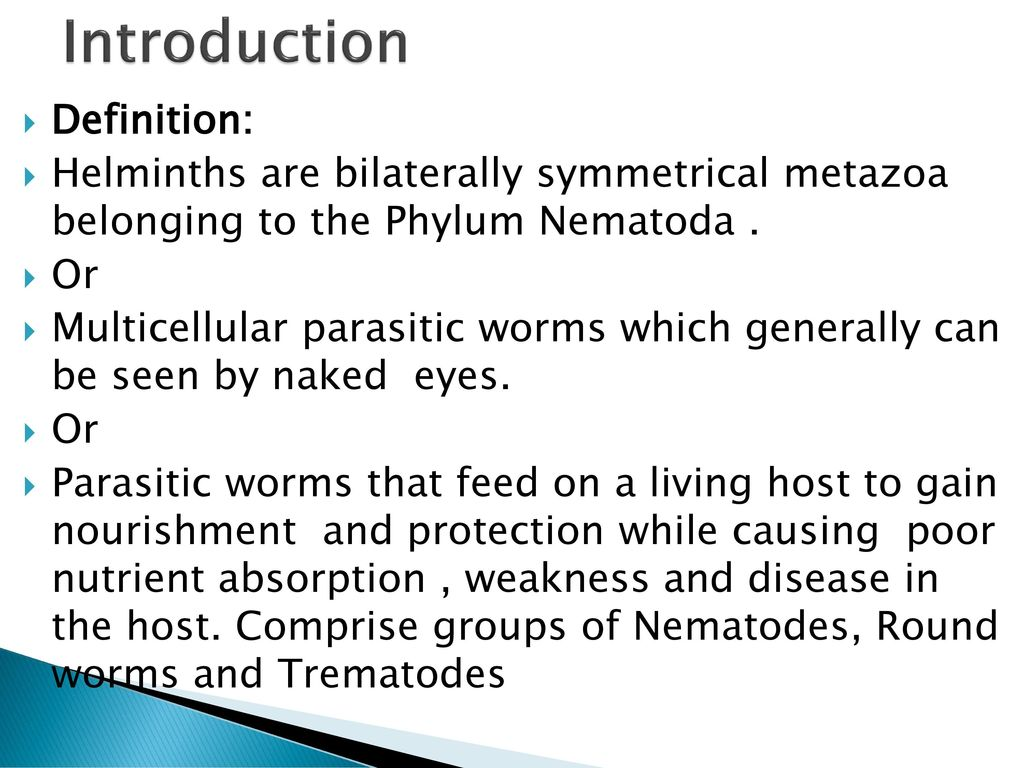 define the term helminths