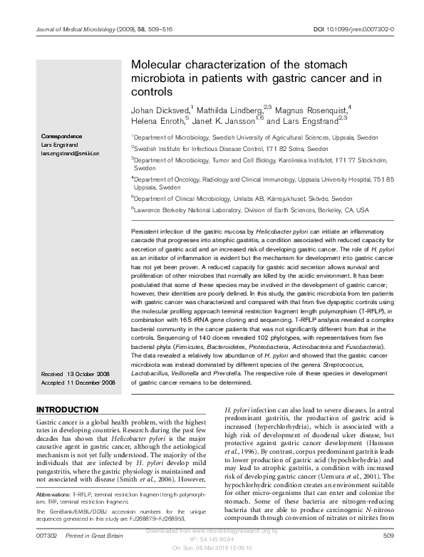 gastric cancer journal abbreviation