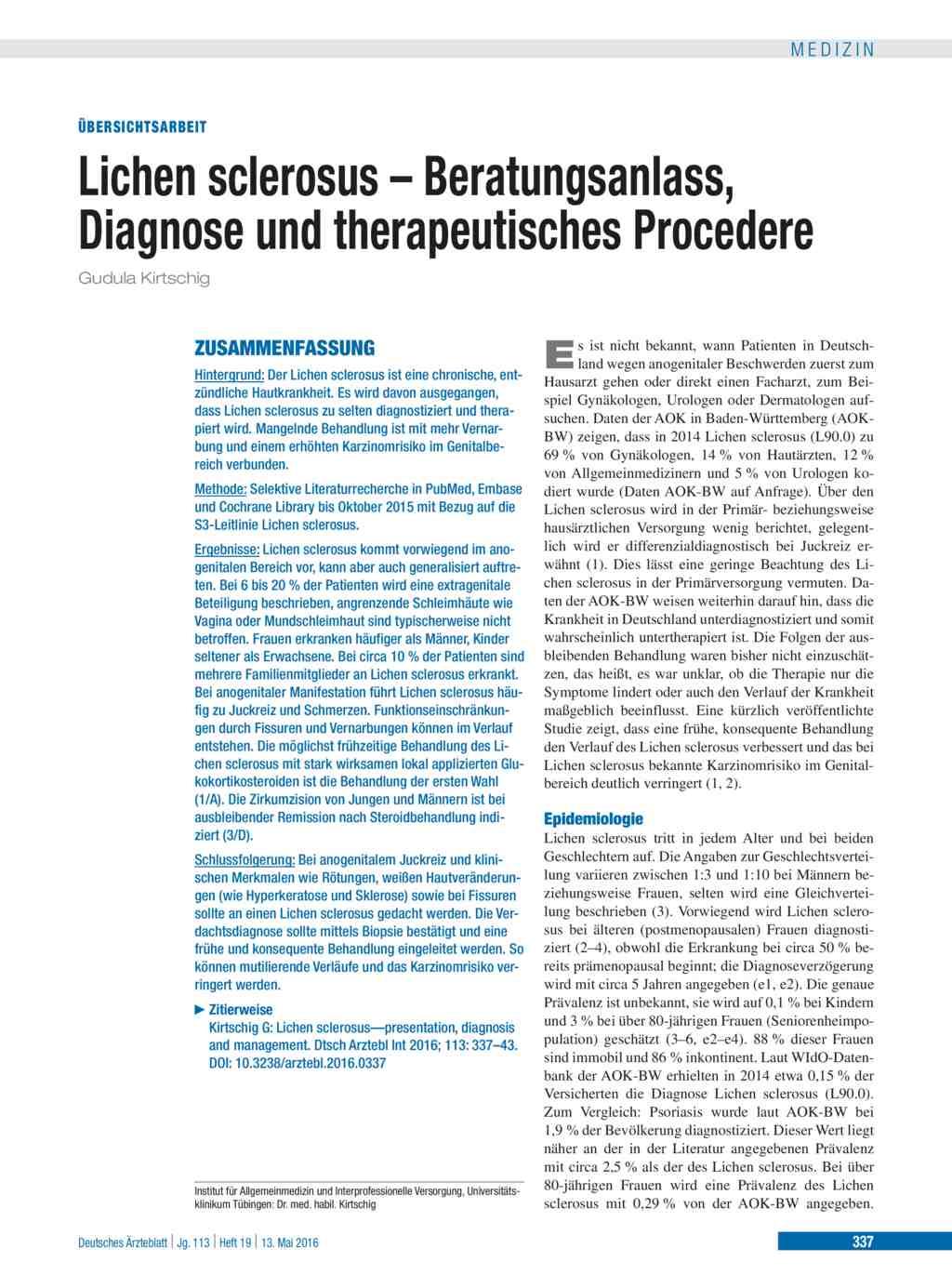 hpv impfung lichen sclerosus