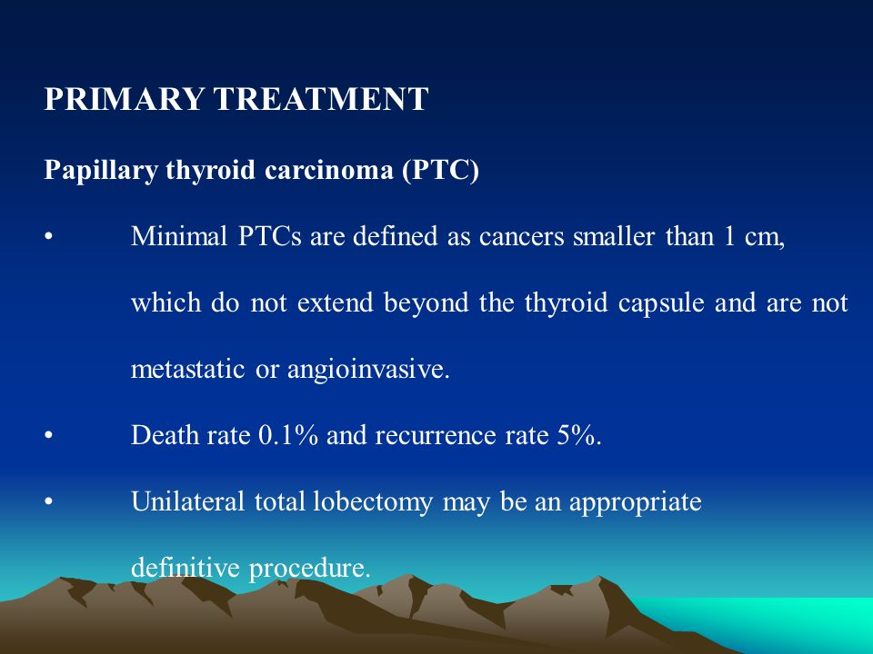 papillary thyroid cancer recurrence treatment