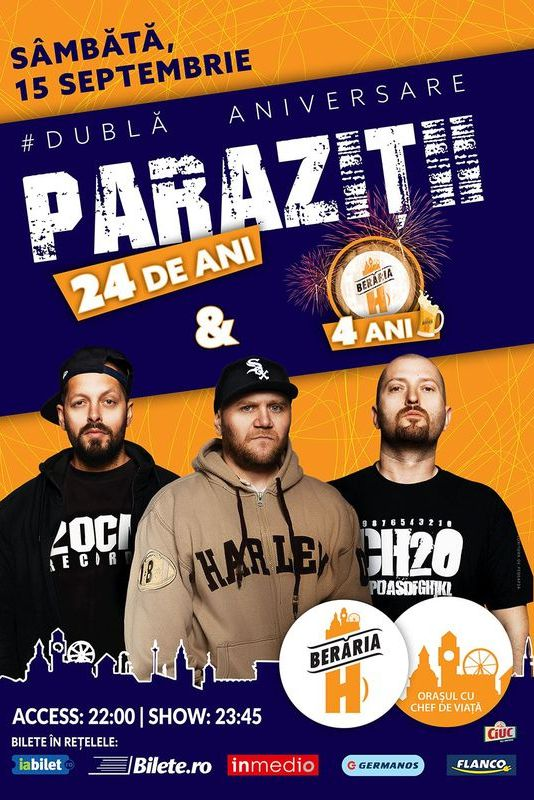 Concert Parazitii / 15 Noiembrie / Cluj / Euphoria Music Hall
