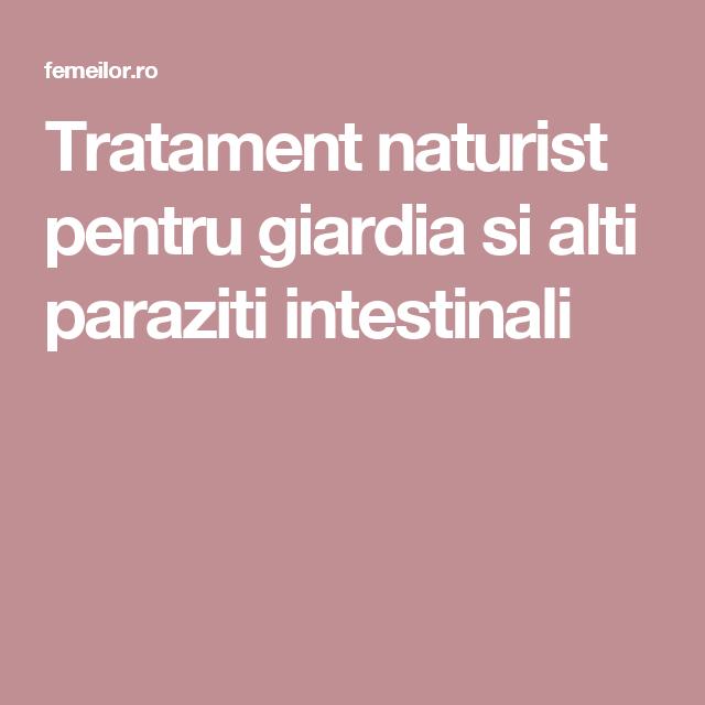 ce tratament este pentru paraziti intestinali