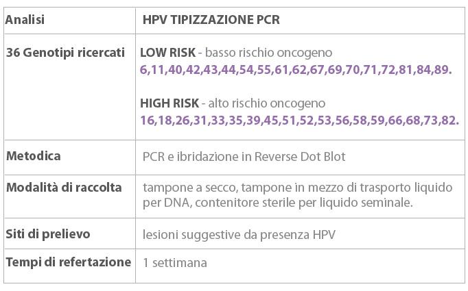 papilloma virus ceppi alto rischio