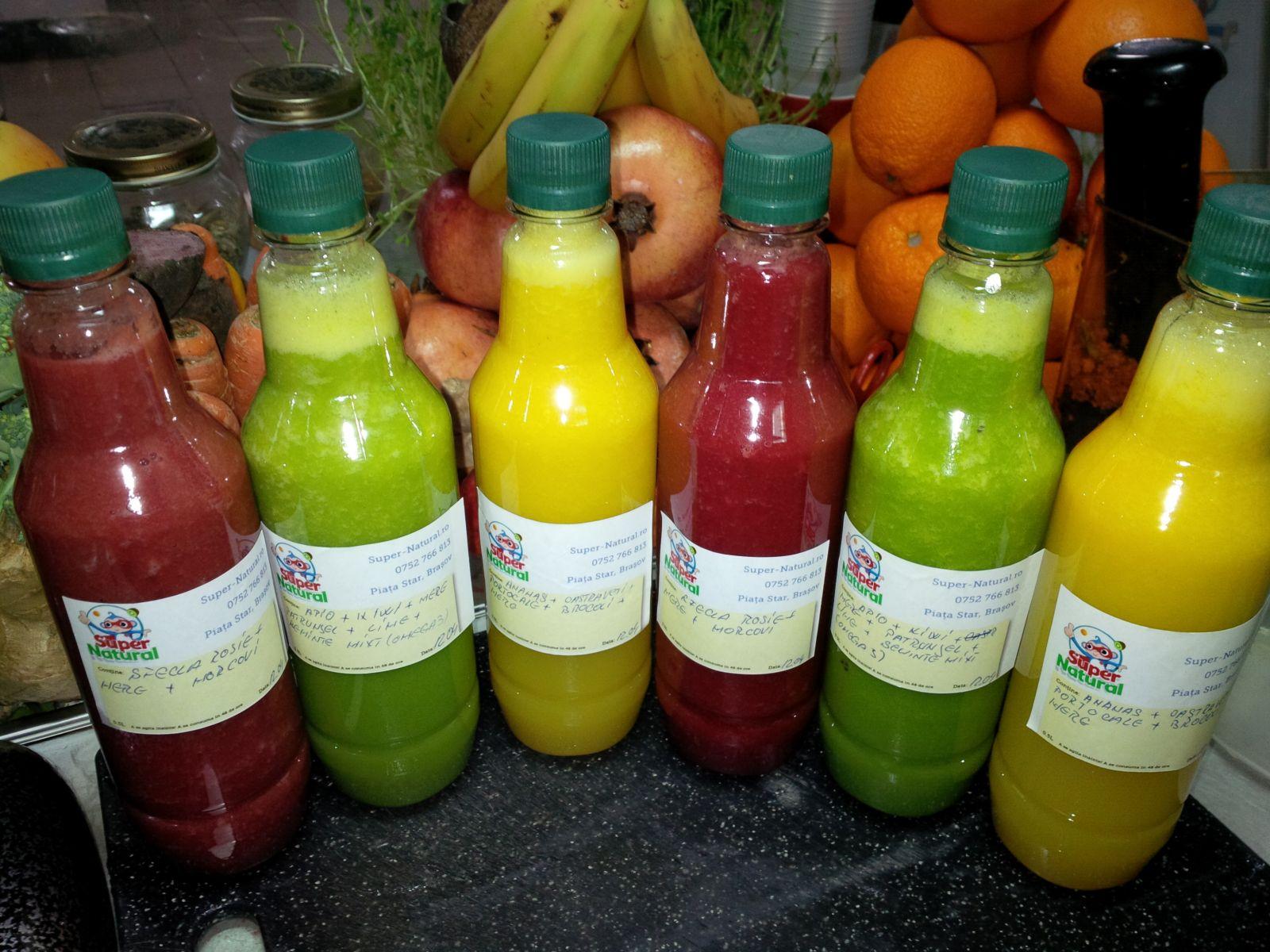 Programa de detoxifiere cu sucuri naturale